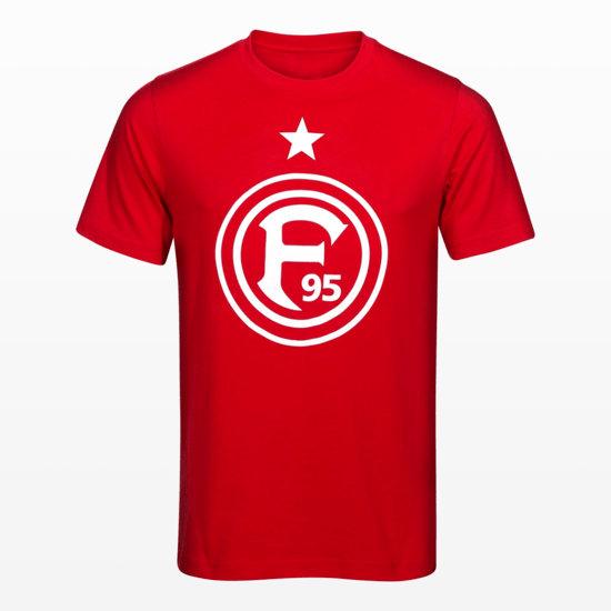 """Fortuna Düsseldorf T-Shirt """"F95"""" Rot"""