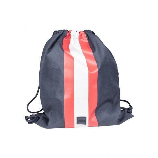 URBAN CLASSICS Stoffbeutel Gym Bag navy/weiß/navy