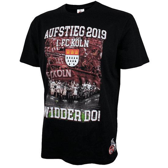 1. FC Köln T-Shirt Aufstieg 2019 schwarz