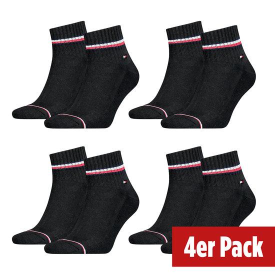 Tommy Hilfiger Socken 4er Pack QUARTER Schwarz