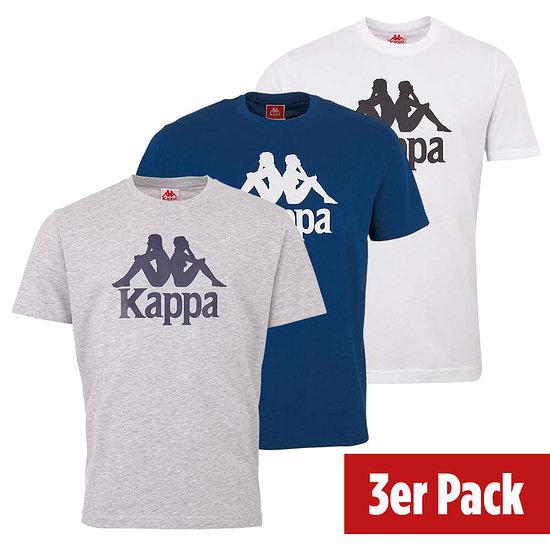 Kappa 3er Set T-Shirt CASPAR Blau/Grau/Weiß