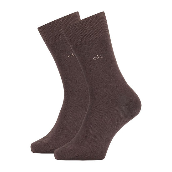 Calvin Klein Socken 2er Pack CREW CARTER Braun