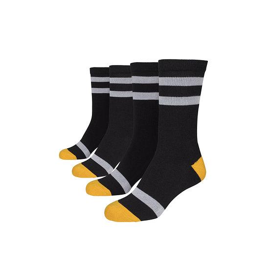 URBAN CLASSICS Socken Multicolor schwarz/gelb/weiß