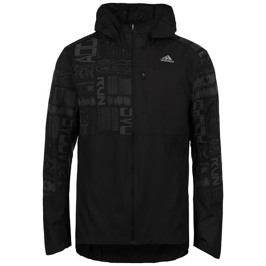 Adidas Kapuzenjacke Laufjacke OWN THE RUN Schwarz