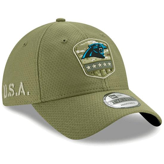New Era Carolina Panthers Cap Salute To Service 9TWENTY oliv