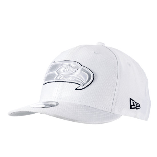 New Era Seattle Seahawks Cap On Field Platin 9FIFTY weiß