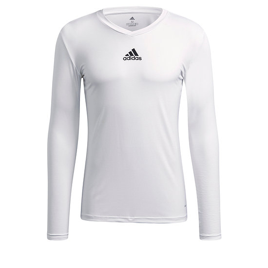 Adidas Trainingsshirt Langarm Team Base Weiß