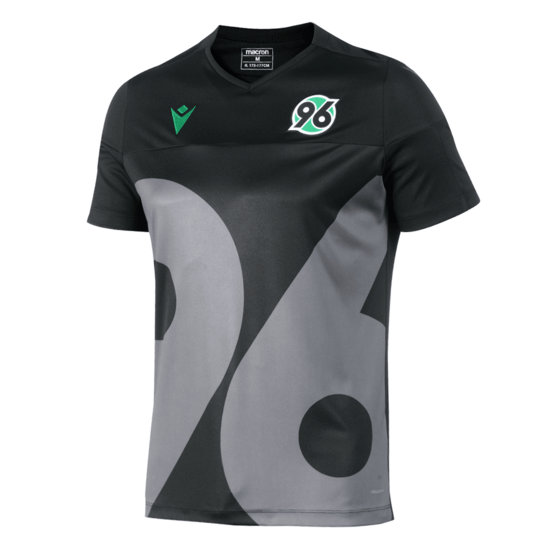 Macron Hannover 96 Trainingsshirt Run schwarz/grau