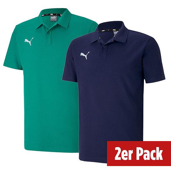 Puma 2er Set Poloshirt GOAL Freizeit Marine/Grün