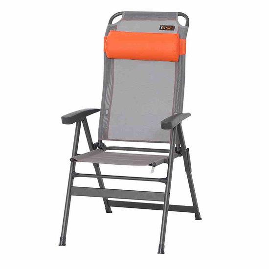 Portal Klappsessel Ken 48x40x120 cm grau/orange