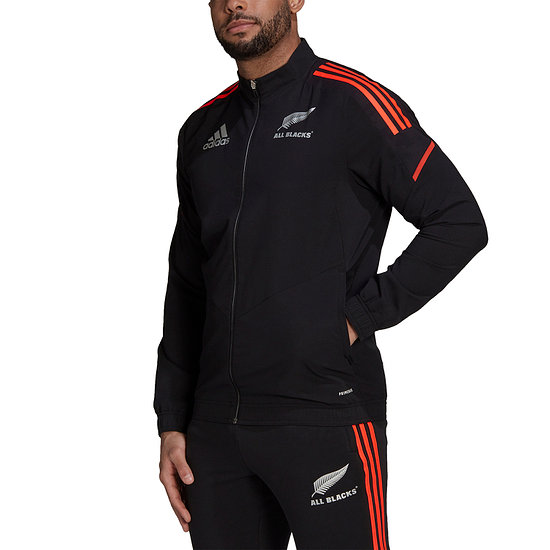 Adidas Neuseeland ALL BLACKS Trainingsjacke WM 2021 Schwarz