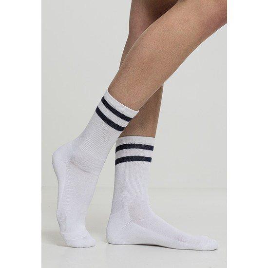 URBAN CLASSICS Socken 2-Stripe 2er-Pack weiß/navy