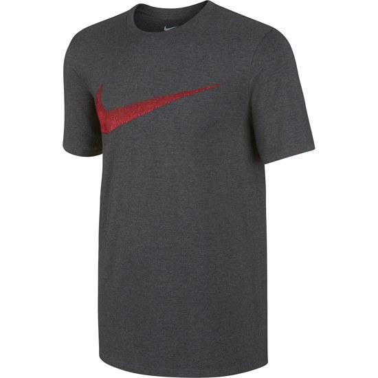 Nike Swoosh T-Shirt dunkelgrau/rot