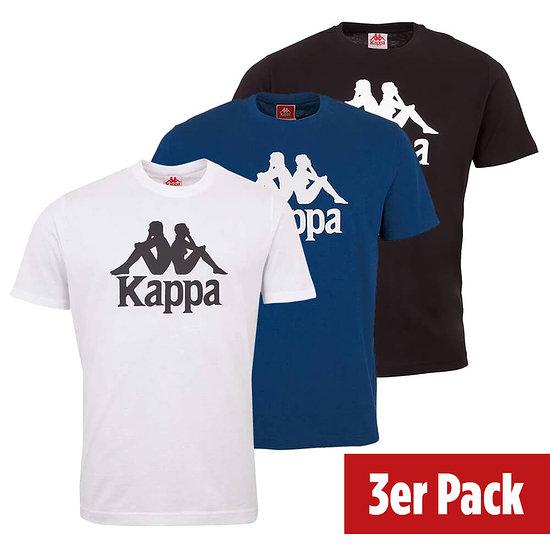 Kappa 3er Set T-Shirt CASPAR Schwarz/Blau/Weiß