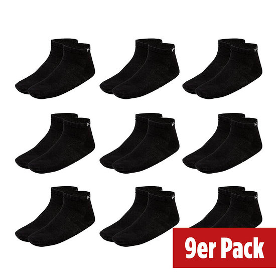 Kappa Socken Sneaker 9er Pack Schwarz