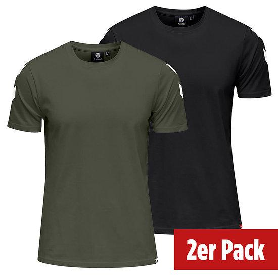 hummel 2er Set T-Shirt Legacy Chevron schwarz/beetle