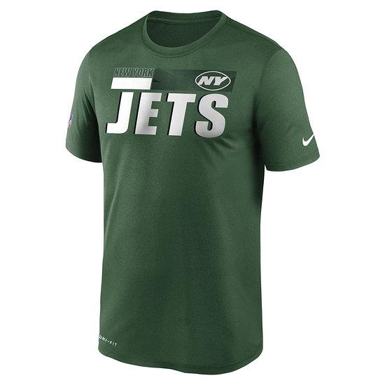 Nike New York Jets T-Shirt Team Name Sideline grün