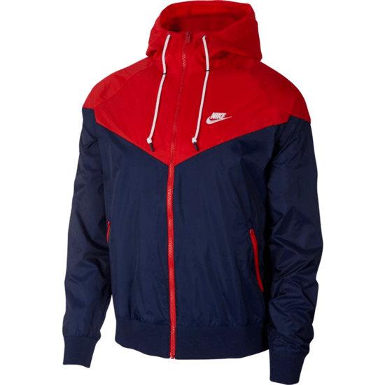 Nike Kapuzenjacke Windrunner Blau/Rot/Weiß