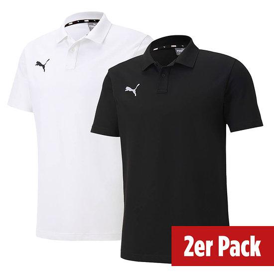 Puma 2er Set Poloshirt GOAL Freizeit Schwarz/Weiß