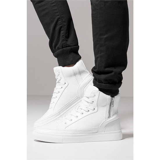 URBAN CLASSICS Sneaker Zipper High Top weiß