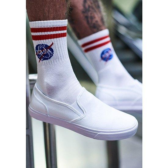 Mister Tee Socken NASA weiß