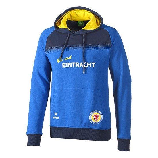 Erima Eintracht Braunschweig Hoodie blau/gelb