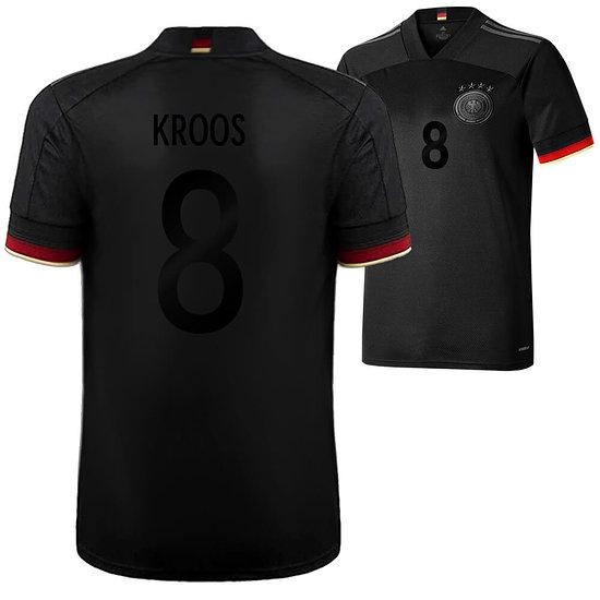 Adidas Deutschland EM 2021 DFB Trikot Auswärts SCHWARZER Fanaufdruck KROOS