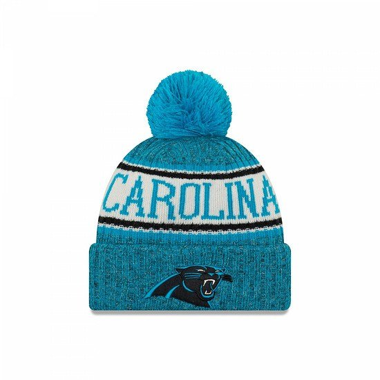 New Era Carolina Panthers Bommelmütze Sport blau