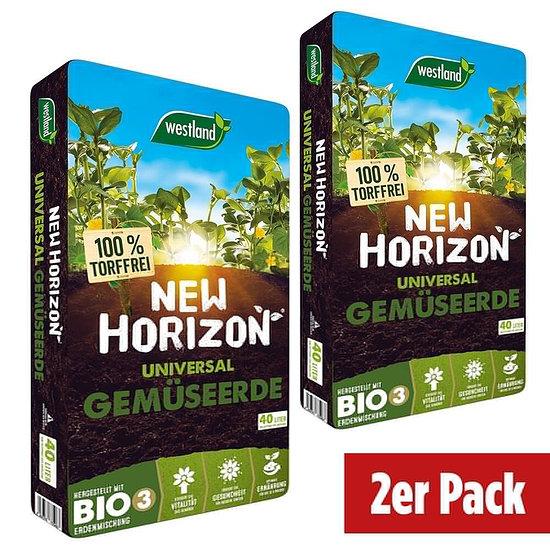 Westland New Horizon torffr. Gemüseerde im Doppelpack=80 Liter