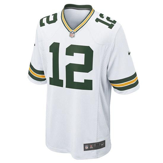 Nike Green Bay Packers Trikot Away Game Rodgers weiß