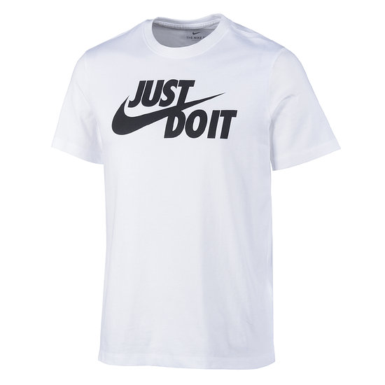 Nike T-Shirt Swoosh JUST DO IT Weiß