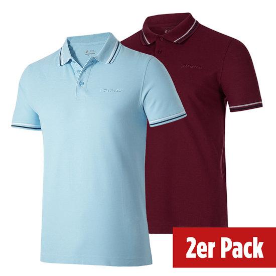 Lotto Poloshirt Classica 2er Set rot/airy/navy