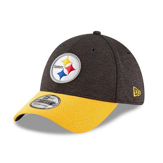 New Era Pittsburgh Steelers Cap 39THIRTY Sideline Home schwarz/gelb