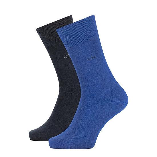 Calvin Klein Socken 2er Pack CREW CARTER Blau Combo