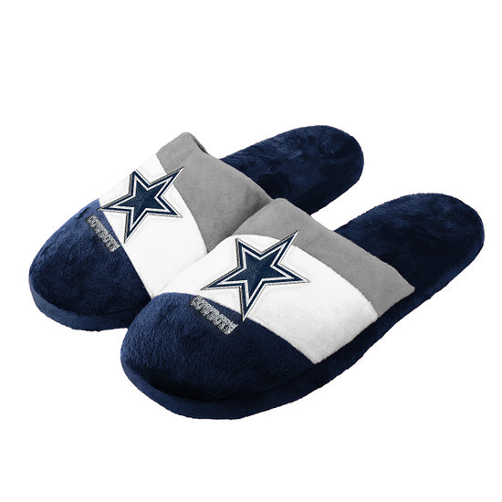 Forever Collectibles Dallas Cowboys Hausschuhe Colourblock blau/weiß/grau