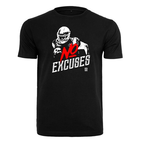 PICK SIX T-Shirt NO EXCUSES Schwarz
