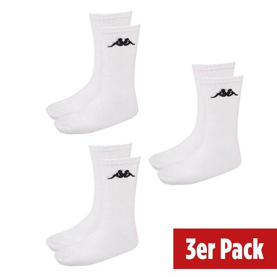 Kappa Sportsocken 3er Pack weiß