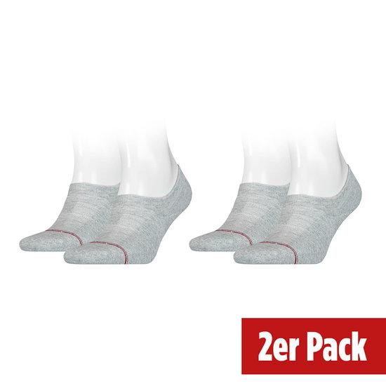 Tommy Hilfiger Socken 2er Pack ICONIC FOOTIE Hellgrau