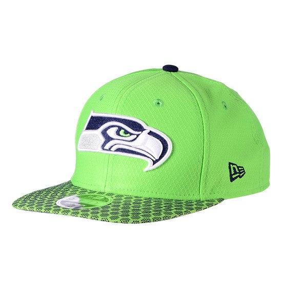 New Era Seattle Seahawks Cap Sideline 9FIFTYOF Dots grün