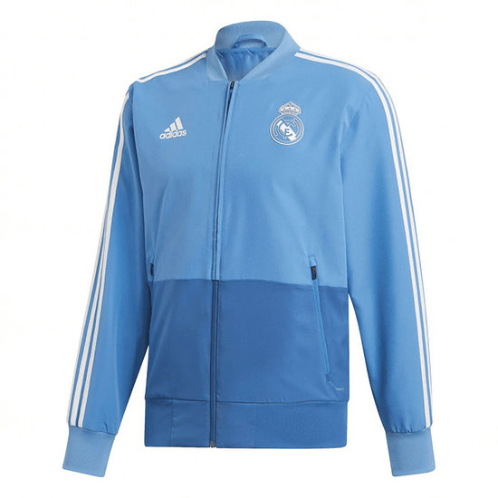 Adidas Real Madrid Präsentationsjacke Blau