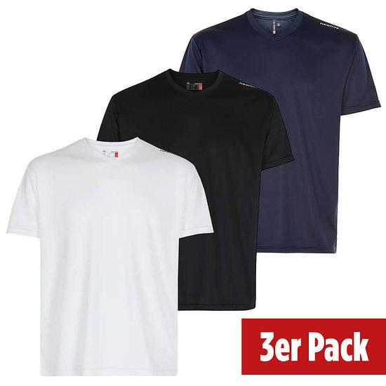 newline 3er Set T-Shirt Base Cool schwarz/weiß/navy