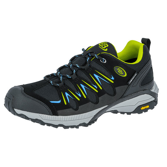 Brütting Outdoor Schuh Expedition schwarz/lemon/blau