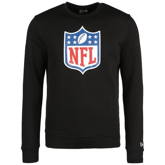 New Era NFL Shield Sweatshirt Crew Logo schwarz/weiß