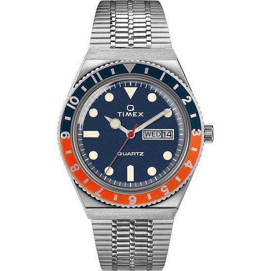 Timex Herrenuhr Q TIMEX Blau
