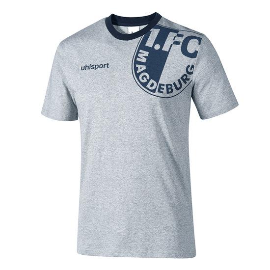 uhlsport 1. FC Magdeburg Freizeitshirt grau