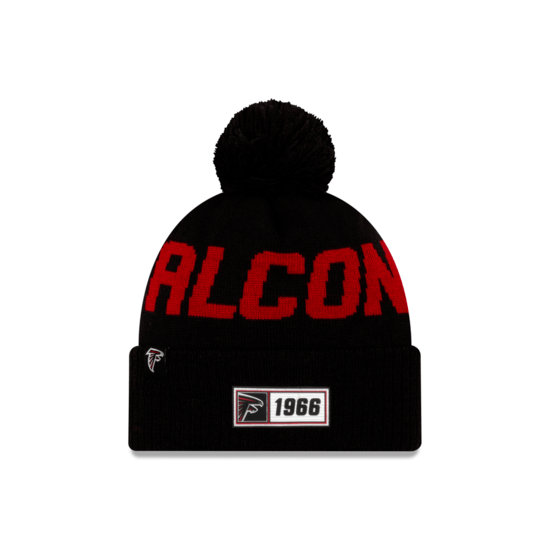 New Era Atlanta Falcons Beanie On Field Sport Knit RD schwarz
