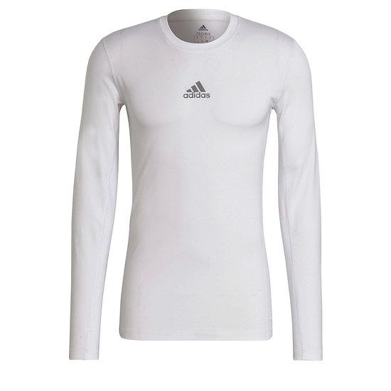 Adidas Trainingsshirt Langarm TechFit Weiß