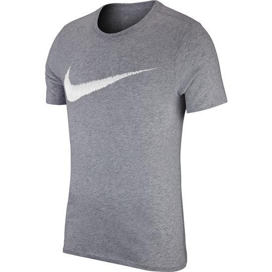 Nike Swoosh T-Shirt grau/weiß