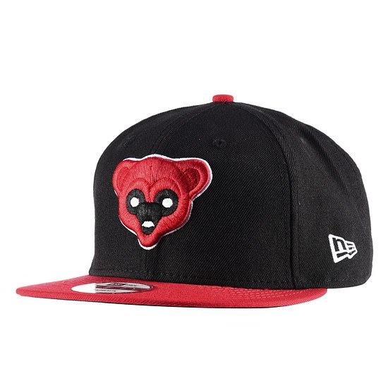 New Era Chicago Cubs Cap 9FIFTY Black schwarz/rot