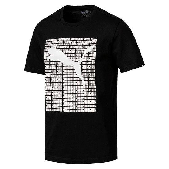 Puma T-Shirt Repeat Schwarz